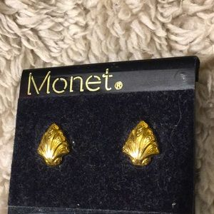Vintage Monet leaf Earrings